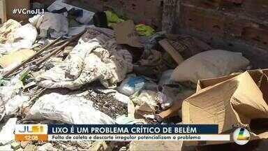 Belém sobre com acumulo de lixo e entulhos descartados irregularmente - Belém sobre com acumulo de lixo e entulhos descartados irregularmente
