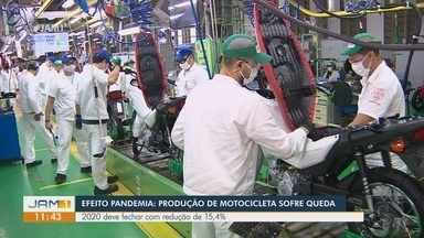 Amazonas registra queda na produção de motocicletas - Ano de 2020 deve fechar com redução de 15,4%.