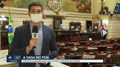 Câmara suspende processo de escolha de novo membro do TCM - Pedido foi feito por vereadores que já são aliados do prefeito eleito Eduardo Paes. Nome de conselheiro foi indicado por Marcelo Crivella,