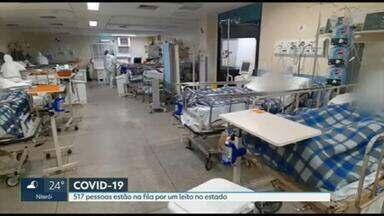 Fila de espera por leitos para Covid no RJ tem 517 pessoas - RJ2 mostrou como está a distribuição de vagas nas unidades de saúde.