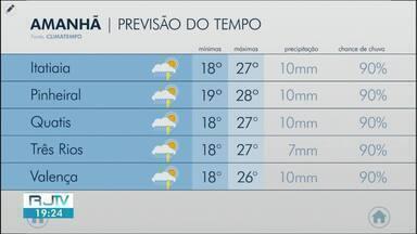 Sexta-feira será de tempo chuvoso nas cidades da região - Confira como ficam os termômetros em algumas cidades.