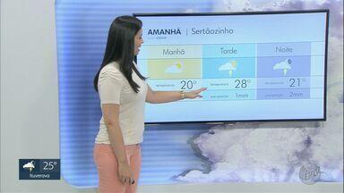 Confira a previsão do tempo para esta sexta-feira (11) na região de Ribeirão Preto. - Cidades terão chuva isolada.