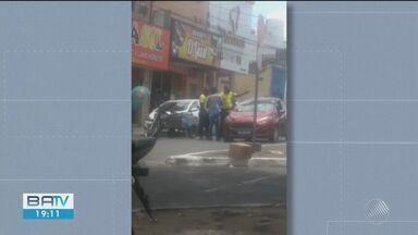 Briga entre dois agentes de trânsito e um entregador é registrada em Feira de Santana - A situação está sendo investigada. Confusão aconteceu nesta quinta-feira (10).