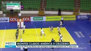 América-MG dá trabalho, mas Cruzeiro vence por 3 a 0 o duelo mineiro na Superliga - Time de Montes Claros vendeu caro a derrota em todos os sets.
