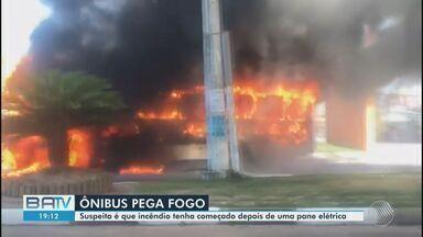 Destaques do dia: ônibus pega fogo na Estrada do Côco, em Lauro de Freitas - Confira este e outros destaques nesta quinta-feira (10).