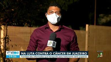 Famílias que lutam contra o câncer em Juazeiro do Norte temem ficar sem transporte - Saiba mais no g1.com.br/ce