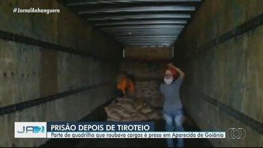 Integrantes de grupo que roubava cargas é preso em Aparecida de Goiânia - Eles são suspeitos de roubar carga de R$ 600 mil.
