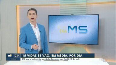 MS teve a maior alta na média de mortes por Covid-19 do país - Bom Dia MS.