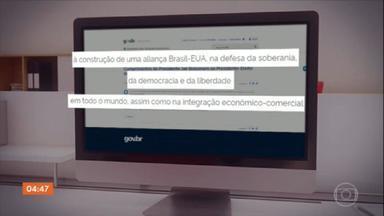 Bolsonaro reconhece vitória de Biden sobre Trump à presidência dos Estados Unidos - Uma nota do Itamaraty saudou o presidente eleito.