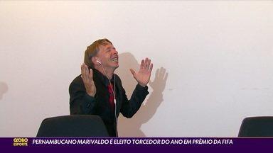 Pernambucano Marivaldo é eleito torcedor do ano em Prêmio da Fifa - Pernambucano Marivaldo é eleito torcedor do ano em Prêmio da Fifa
