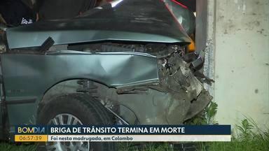 Briga de trânsito termina em morte em Colombo - Confusão começou em um bar depois que motorista bateu em uma moto.