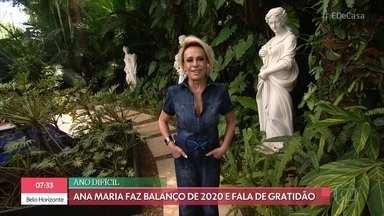 Ana Maria Braga mostra seu jardim e faz balanço de 2020 - Apresentadora participa do 'Viva o Verde' e conversa com Ana Furtado. O engenheiro florestal Murilo Soares dá dicas de como plantar chifre-de-veado em tábua de carne