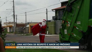 Menina de 5 anos surpreende coletores de lixo com piquenique - Surpresa foi retribuída pelos amigos da garota.