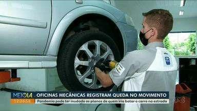 Oficinas mecânicas registram queda no movimento - Pandemia pode ter mudado os planos de quem iria botar o carro na estrada.