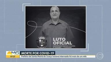 Prefeito de Santa Maria do Suaçuí, no Leste de Minas, morre de Covid-19 - Aristóteles Temponi (MDB) estava internado em Belo Horizonte há mais de um mês.