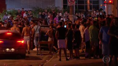 Festas clandestinas e lojas abertas desrespeitam restrições mais rígidas em São Paulo - O governo de São Paulo decretou fase vermelha para conter o avanço da Covid. Nessa fase só podem abrir farmácias, mercados, postos de combustíveis, lavanderias, hotéis e petshops.