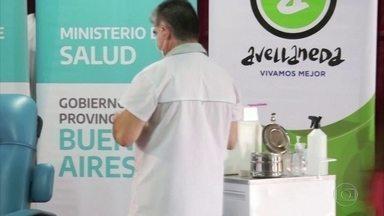 Argentina começa a vacinação contra a covid - País recebeu 300 mil doses da vacina russa Sputnik.