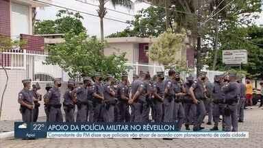 Polícia Militar apoia ações de controle à pandemia na Baixada Santista - Comandante da PM disse que policiais vão atuar de acordo com planejamento de cada cidade.