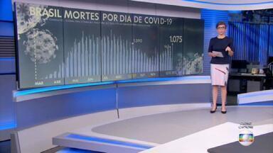 Brasil registra mais 1.075 mortes por Covid e supera 192 mil - País contabilizou 192.716 óbitos e 7.564.209 casos da doença desde o início da pandemia.