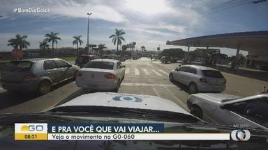 Veja como está o movimento na GO-060 - Muita gente aproveita o feriado para pegar estrada!