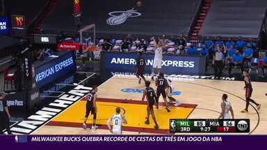 Milwaukee Bucks quebra recorde de cestas de três em um único jogo da NBA - Milwaukee Bucks quebra recorde de cestas de três em um único jogo da NBA