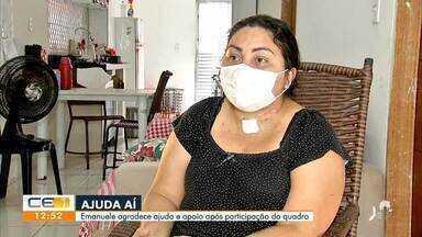 Técnica de enfermagem recebe doações após participar do Ajuda Aí - Saiba mais em g1.com.br/ce