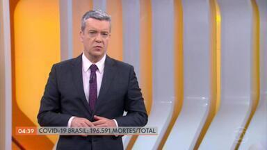 Brasil registra 196.591 óbitos por Covid-19 - De acordo com o consórcio de veículos de imprensa, o país registrou mais 562 mortes. A média móvel diária de mortes, nos últimos sete dias, ficou em 707. Os contaminados pelo novo coronavírus, desde o início da pandemia, são 7.754.560.