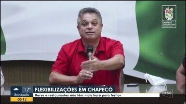 Chapecó anuncia flexibilização; bares não têm mais hora para fechar - Chapecó anuncia flexibilização; bares não têm mais hora para fechar