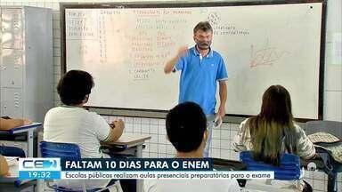 Escolas públicas realizam aulas presenciais preparatórias para o Enem - Saiba mais em g1.com.br/ce