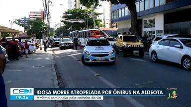 Idosa morre atropelada por ônibus na Aldeota - Saiba mais em g1.com.br/ce