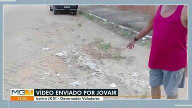 VC no MG1: Morador reclama de buracos no bairro JK III, em Governador Valadares - Confira.