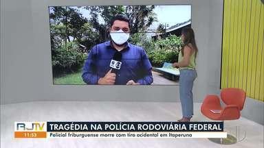 Policial friburguense morre com tiro acidental disparado por colega em Itaperuna, no RJ - PRF Felipe Louback morreu nesta quinta-feira (7).