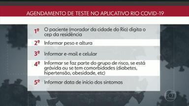 Moradores da cidade do Rio vão poder agendar testes de Covid-19 por telefone e também por aplicativo - Cariocas podem agendar o teste pelo 1746 ou também pelo aplicativo.