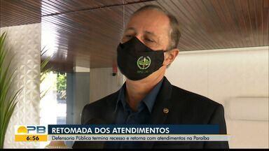 Defensoria Pública retoma atendimentos na Paraíba - Atendimentos são retomados depois de recesso