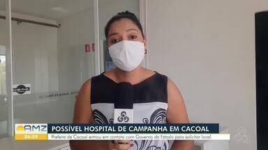 Prefeito de Cacoal pede prédio para construção de hospital de campanha - Número de casos de covid-19 aumenta na cidade, que já chegou a ficar sem leitos.