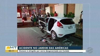 Homem é atingido por carro desgovernado em Cuiabá - Homem é atingido por carro desgovernado em Cuiabá