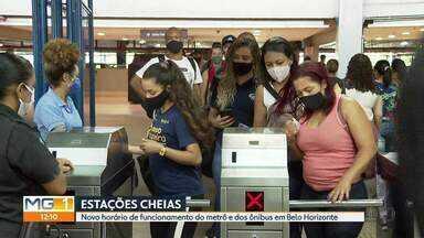 Horário de funcionamento do metrô e dos ônibus muda a partir desta 2ª em Belo Horizonte - BHTrans disse que vai fazer 'ajustes necessários' no quadro de horários dos ônibus.