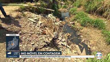 MG Móvel em Contagem: moradores do bairro Novo Boa Vista esperam por obras de saneamento - Veja a reportagem completa, que foi até o local verificar o problema.