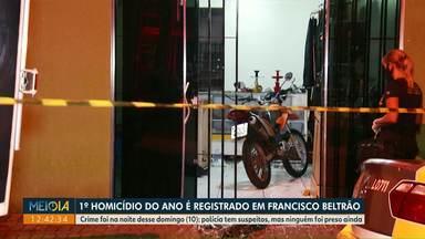 Homem de 27 anos é a primeira vítima de homicídio esse ano em Francisco Beltrão - Crime foi na noite desse domingo (10). Polícia tem suspeitos, mas ninguém foi preso ainda.