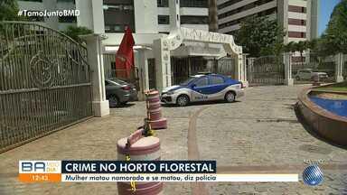 Polícia investiga morte de casal em prédio de luxo, em Salvador; corpos estão no IML - Tragédia ocorreu no domingo (10). A suspeita é de que uma mulher se matou após atirar contra o namorado.