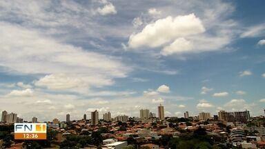 Meteorologia prevê segunda feira de sol e calor no Oeste Paulista - Chance é de pequenas pancadas de chuva.