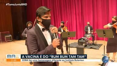 Após viralizar na internet, Orquestra Sinfônica da BA cria funk da vacina contra a Covid - Confira um pouco do som da OSBA.