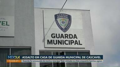Casa de guarda municipal é assaltada por homens encapuzados - Este foi um dos destaques do Meio-Dia Paraná em Cascavel.