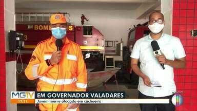 Jovem morre afogado em cachoeira de Governador Valadares - Bombeiro fala sobre o caso.