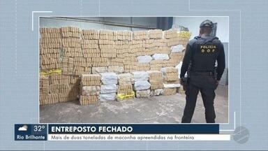 DOF apreende mais de duas toneladas de maconha na fronteira - MS1