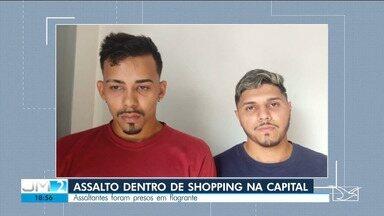 Dupla é presa após assalto a loja dentro de shopping, em São Luís - Assalto ocorreu ainda durante a tarde desta quarta-feira (13).