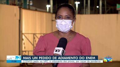 CONASS faz novo pedido de adiamento das provas do ENEM - Ao vivo, a repórter Regina Souza deu mais informações.