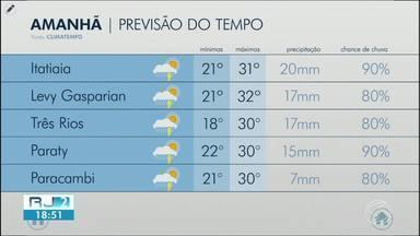 Meteorologia prevê quinta-feira com pancadas de chuva na região - Veja como ficam os termômetros em algumas cidades da região.