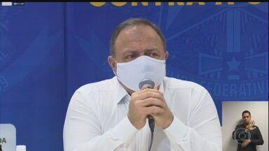 Ministro da Saúde diz que vacinação contra a Covid no país começa em janeiro - Pazuello anunciou que um avião está indo para a Índia buscar 2 milhões de doses da vacina de Oxford. No melhor dos cenários, a vacinação poderá começar no dia 20.