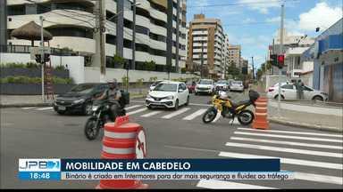Binário em Cabedelo muda o trânsito em área movimentada da cidade - Expectativa é que mudança dê mais fluidez ao tráfego da orla.